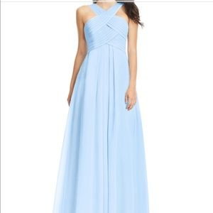 Sky Blue Azazie Bridesmaid Dress